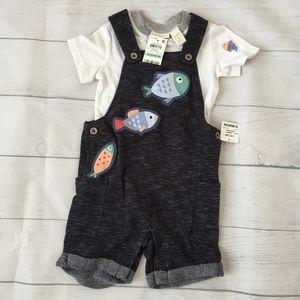 First Impressions Baby Boys 2-Pc TShirt & Fish Set